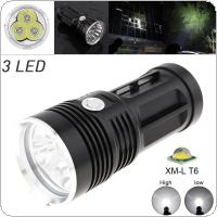 Waterproof 60W 1800 Lumens  3x XM-L XML T6 LEDs 5 Modes Outdoor LED Flashlight Light High Power Flash Lamp
