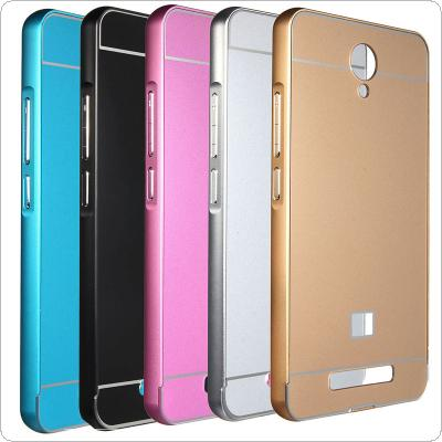Metal Frame Bumper Acrylic PC Back Cover Case Fit for Xiaomi Red Mi Note 2