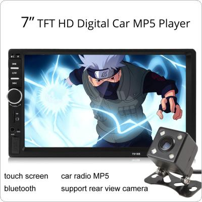 Car 7018B 2DIN 7 Inch Bluetooth Audio In Dash Touch Screen Car Audio Stereo MP3 MP5 Player USB
