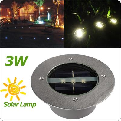 Solar Power 3 LED Buried Lamp Light Outdoor Path Way Garden Under Ground Decking