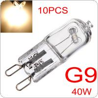 10 x G9 40W Halogen Light Bulbs Long Life Capsule Lamps Warm White Clear Bulbs