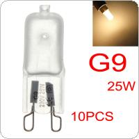 10PCS G9 Halogen Light Bulbs 230-240V 25W Frosted Dimmable Capsule Lamp Lighting
