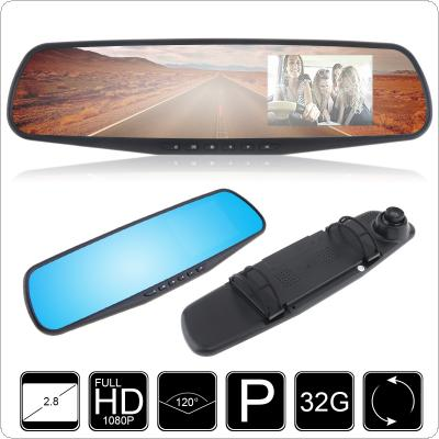 "2.7"" 1080P LCD HD Car Camera Dash Cam Video Recorder Rearview Mirror Vehicle DVR"