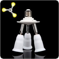 3 in 1 Adjustable E27 Base Light Lamp Bulb Adapter Holder Socket Splitter