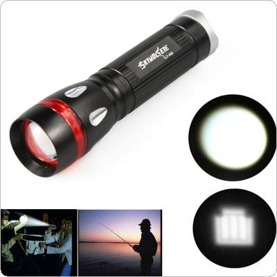 SKYWOLFEYE Powerful Waterproof Outdoor 500LM 3-MODE XML T6 LED Flashlight for Camp / Hike / Outdoor