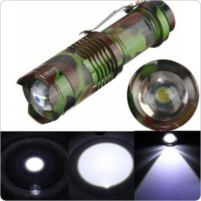 2000LM 3-Mode Adjustable CREE XM-L T6 LED Telescopic Zoom Flashlight Torch Lamp