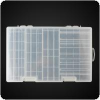 Battery Holder Case Hard Plastic Storage Box Rack Transparent for AAA AA C&D 9V