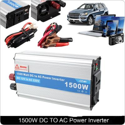 1500W DC 12V to AC 220V Power Charger Converter Car Inverter for Electronic Products