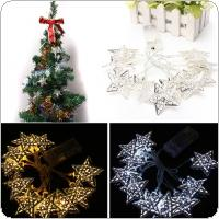Battery Operated 1.2m 10 LED Stars String Fairy Lights Christmas Decor