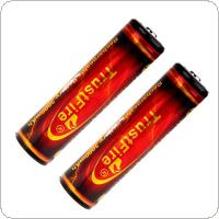 TrustFire 2pcs 18650 3.7V 3000mAh PCB Protected Rechargeable Battery for Flashlights / Headlamps