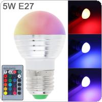 5W E27/E14 LED RGB 16 Color Change Spot Light Bulb Lamp + IR Remote Control