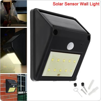 10-LED Solar Power Motion Sensor Wall Light Outdoor Waterproof Garden Lamp