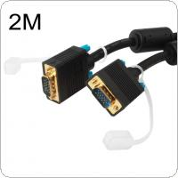 Vention 2M VGA to VGA Cable Male to Male 15 PIN VGA Cord For Computer Projector HD TV