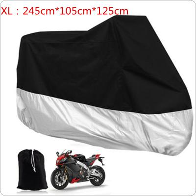 XL Large Motorcycle Waterproof Dust Rain Vented Cover for Motor / Bike / Scooter