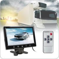 9 Inch Remote Control TFT LCD Color Screen Car Rear View Monitor With 2 Video Input