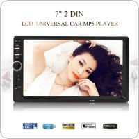 7018B 7 Inch LCD HD Double DIN Car In Dash Touch Screen Bluetooth Car Stereo FM MP3 MP5 Radio Player with Wireless Remote Control