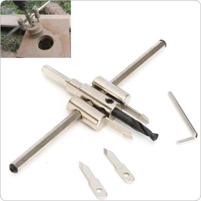 Adjustable 40mm-200mm Circle Hole Cutter Set with Wood Metal Hole Saw Drill Bit Tools for Woodworking