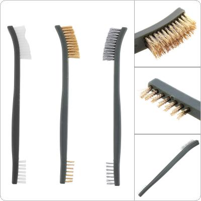 3pcs/set 17cm Practical Steel / Nylon / Brass Brush of Multifunc tion Suitable for Cleaning Paint / Rust / Dirt