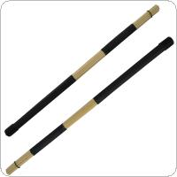 1 Pair Jazz Drum Brushes Bamboo 19 Bundles Drum Sticks with Rubber Handle for Jazz Drum Exercise
