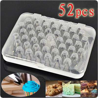52Pcs/Set Icing Piping Pastry Fondant Cake Decorating Sugarcraft Nozzle Tips
