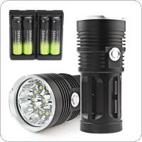 2600LM Super Bright 11x XML-T6 LED Hunting / Fishing Flashlight Torch Lamp 4x18650 & Charger