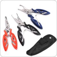 Fishing Multifunctional Plier Stainless Steel Fish Tackle Lure Hook Remover Line Cutter Scissors