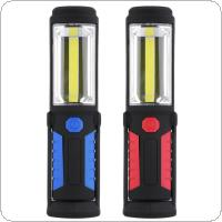 1 LED + 1 COB Outdoor Fishing Light USB Charge Magnetic Work Hand Lamp Emergency Torch