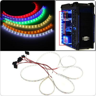 60cm 18 LED 5050 SMD PC Computer Case Waterproof Flexible Strip Tape Light DC12V