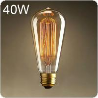 E27 25W Edison Light Bulb Incandescent Bulb ST64 Retro Edison Lights Pendant Decoration Bulb Led Filament Bulb 220V