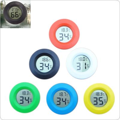 Embedded Round Digital LCD Thermometer Temperature Hygrometer Meter