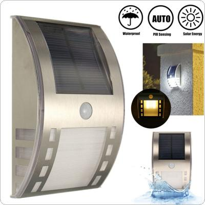 Waterproof 3 LED Solar Power PIR Motion Sensor Outdoor Garden Wall Light