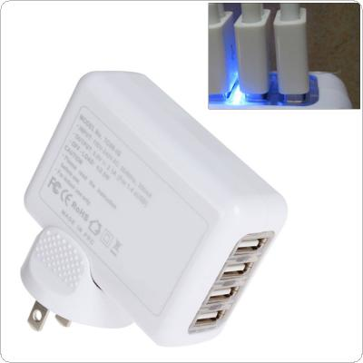2.1A 4 Port USB Universal Wall AC Charge for Home or Travel