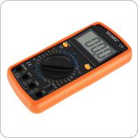 DT9205A LCD Display DMM Capacitance and hFE Test Multimetro Digital Multimeter with English Instructions