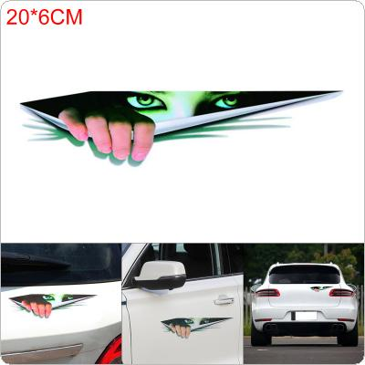 Funny Car Hoods Trunk Sticker 3D Eyes Peeking Voyeur Thriller Rear Window Decal