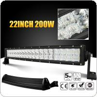 22 inch 200W Car LED Curved Work Light Bar 40x 5D Chips Combo Offroad Light Driving Lamp for Truck SUV 4X4 4WD ATV