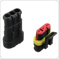 Car Part 3 Pin Way Sealed Waterproof Electrical Wire Auto Connector Plug Set