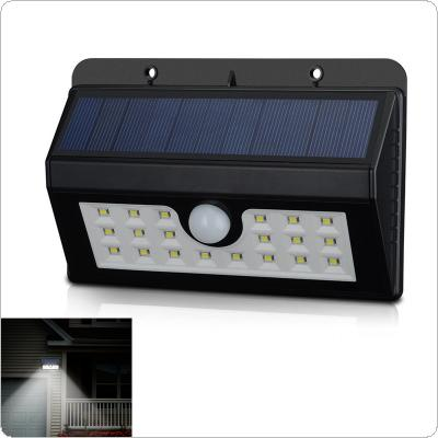 20 LED Solar Powered Security Motion Sensor Light Outdoor Wall Garden Lamp