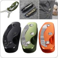 Aluminum Key Holder Organizer Clip Folder Keyring Keychain Case EDC Pocket