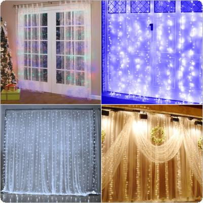 Origlam 110V 9.8ft x 9.8ft 304 LEDs Fairy Curtain String Lights with 8 Lighting Modes Controlled for Valentine's Day / Wedding / Party
