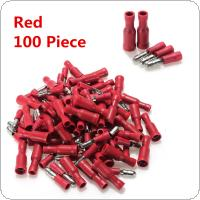 100pcs Bullet Crimp Red Male Female Insulated Terminals Connector Wire 22-16 AWG