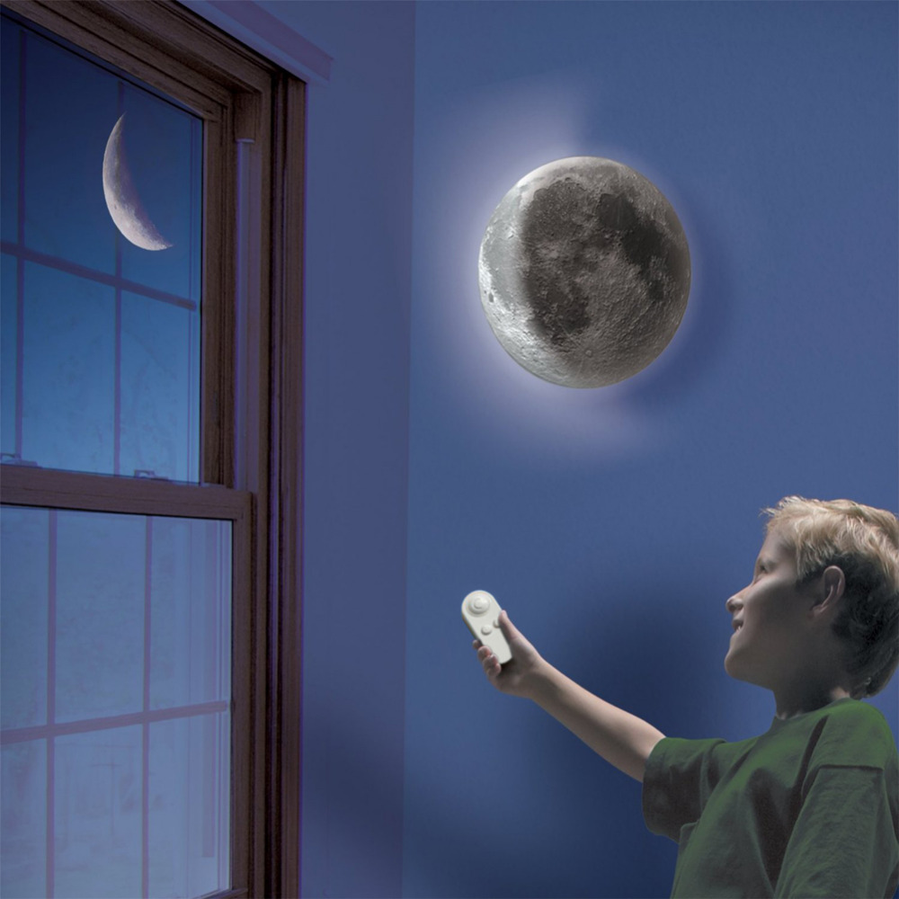 Indoor LED Wall Moon Lamp With Remote Control Relaxing Healing Moon Night Light