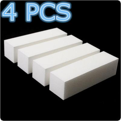 4PCS Cuboid Sponge Nail Files Sanding Block Nail Tools