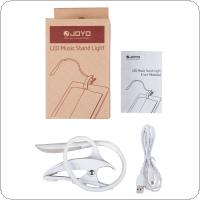 JOYO JL-01 Adjustable Clip On LED Music Stand Light Lamp 3 Levels of Brightness Rechargeable with USB Cable