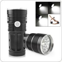 3600LM 12x XML-T6 LED Super Bright Backpacking Hunting Fishing Flashlight with 3 Modes Torch Flash Lamp