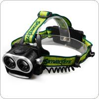SKYWOLFEYE F522 LED 2X XM-L T6 1000LM Double Head Headlamp USB Rechargeable Zoomable Headlight