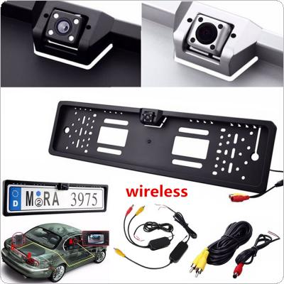 2.4G Wireless EU Number Plate Frame Reverse Camera with LED Light Night Vison