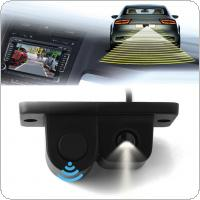 2in1 LCD Car SUV Reversing Parking Radar & Rear View Backup 120° Wide Angle Camera Kit Auto Rear View Camera
