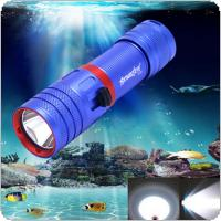 SKYWOLFEYE DV04 Portable 850LM XM-L2 U2 LED Waterproof Torch Flashlight Light Scuba 50m Underwater Diving