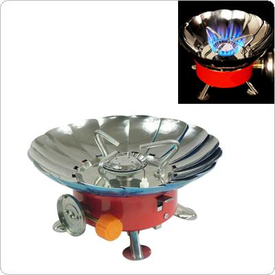 AOTU Powerful Windproof Wind Screen Gas Burners High Adjustable 4000 BTU Flame Camping Gas Stoves Electronic Lighter