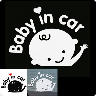 3D Cartoon Stickers Reflective Vinyl Styling Baby in Car Warming for Rear Windshield